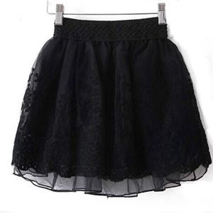 Dresses & Skirts - Lace embroidered tulle skirt